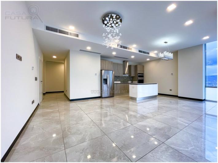 Se renta apartamento en Torre VITRI, la torre es preciosa, moderna, que superara las expectativas de los gustos mas exigentes!! Ademas de toda la seguridad 24/7 con la que ya cuenta, también se encuentra dentro de un circuito cerrado para terminar de hacerlo 100% mas seguro!! Incluye linea blanca DESCRIPCION • Area de construccion: 106.45 m2 • Habitaciones: 2 • Baños completos: 2 • Sala – comedor • Cocina con muebles y top de cuarzo • Estacionamientos: 2 • Aire acondicionado • Area de lavanderia privada AREAS SOCIALES DEL EDIFICIO • Piscina • Gimnasio • Terraza y area verde • Area de barbacoa • Cuarto de juegos para niños • Sauna • Sala de cine • Sala de conferencias • Lobby ACABADOS Y DETALLES DE CADA CONDOMINIO: • Pisos de porcelanato pulido español 75 x 75 cm • Cocina 100% italiana marca LUBE • Top de cuarzo en cocina • Mueble de baños italianos marca LUBE • Top de cuarzo en baños • Griferia 100% alemana marca GROHE • Loza sanitaria marca KOHLER • Lavaplatos en cocina marca KOHLER • Ventaneria de vidrio doble para retención de temperatura lo cual ahorra energía y le asegura un aislamiento acustico • Elevaodres marca KONE • Balcones con barandal de vidrio templado • Paredes perimetrales de cada condominio son de bloque • Calentador de agua • Aire acondicionado tipo fan-coil en sala-comedor y cocina • Aire acondicionado tipo mini Split en habitaciones • Ducto de basura en cada nivel NOTA: Incluye linea blanca NOTA: Las fotos varían de un modelo a otro